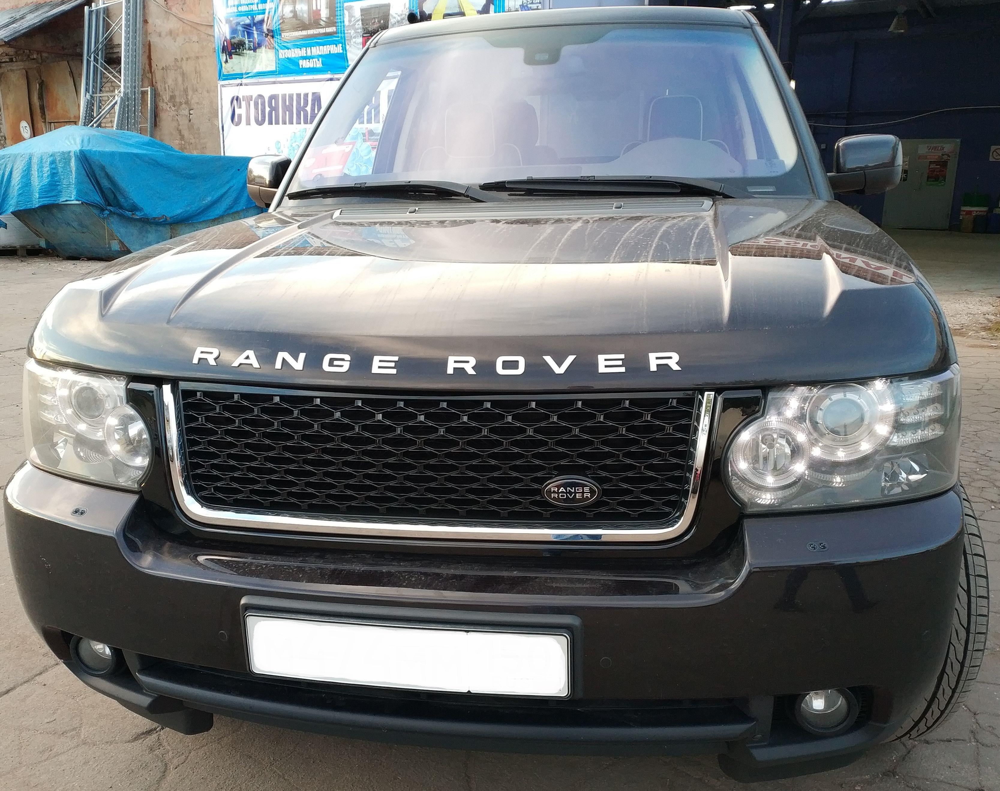 Решетка радиатора и жабры в стиле Autobiography для Range Rover Vogue 2010-2012