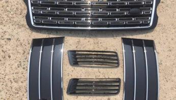 Решетка радиатора и жабры  Autobiography для Range Rover Vogue L405 2013-нв.