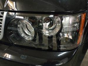 Замена стекол фар Range Rover Sport 2012
