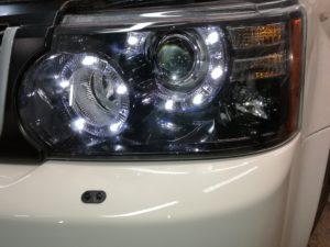 Замена головной оптики и замена бампера Range Rover Sport 2012 Autobiography