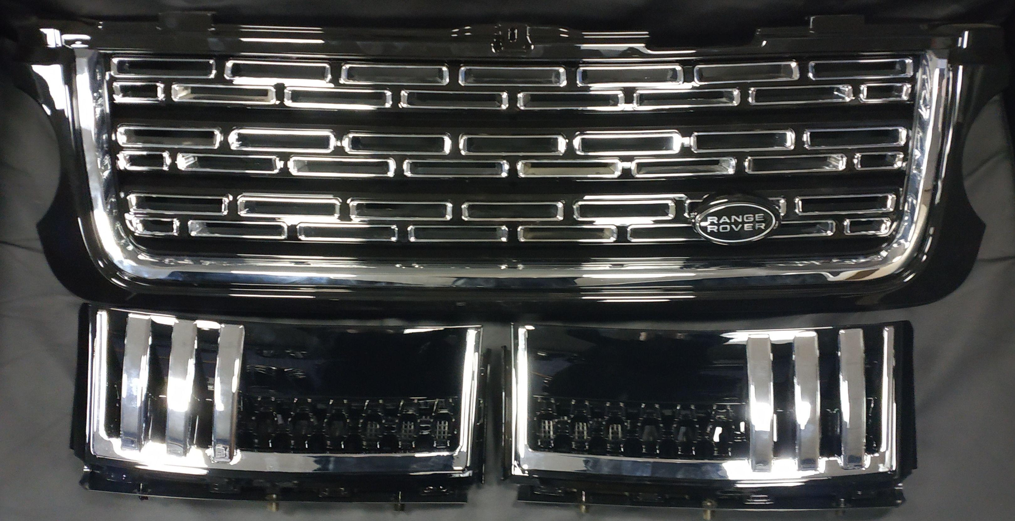 Решетка радиатора и жабры Range Rover Vogue 2010-2012 в стиле L405
