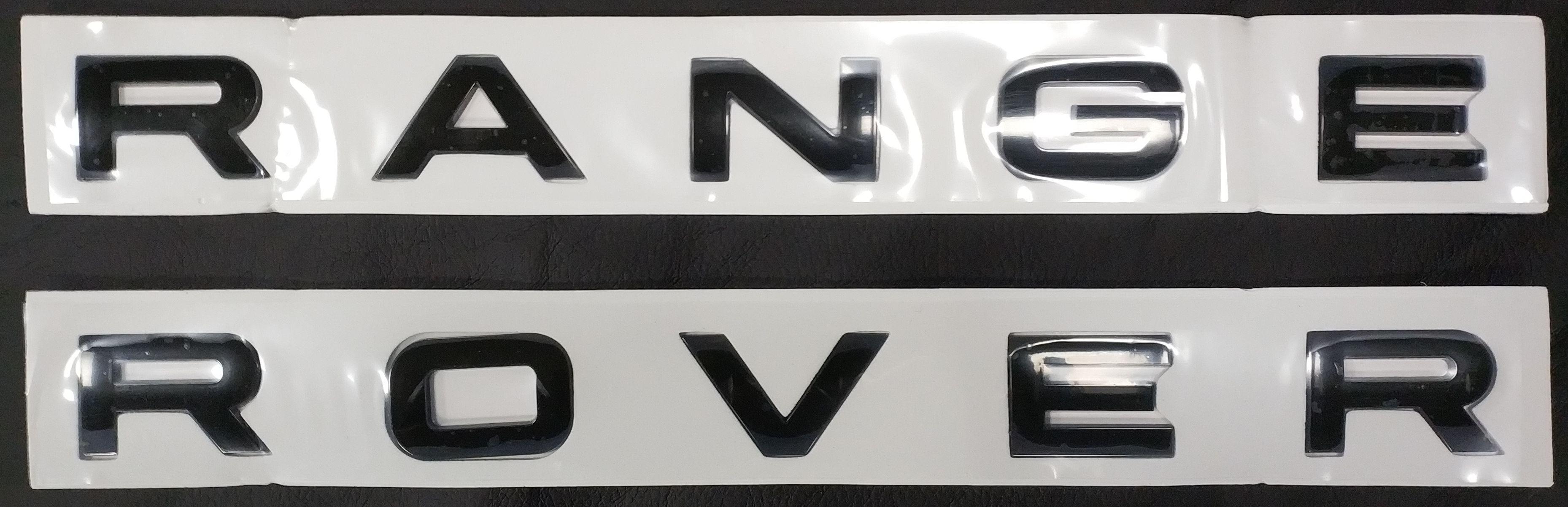 Эмблема надпись на капот (багажник)  Range Rover