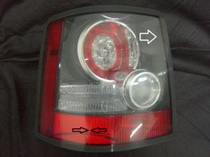 Замена стекол задних фонарей Range Rover Sport 2010-2013