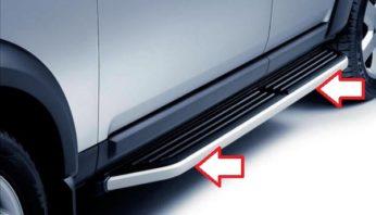 Боковая алюминиевая накладка порога Land Rover Discovery 3 / 4