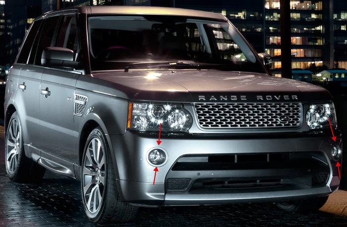 Окантовки противотуманных фар Range Rover Sport 2010-2013 Autobiography