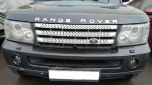 Ремонт и покраска бампера и решетки радиатора Range Rover Sport 2007