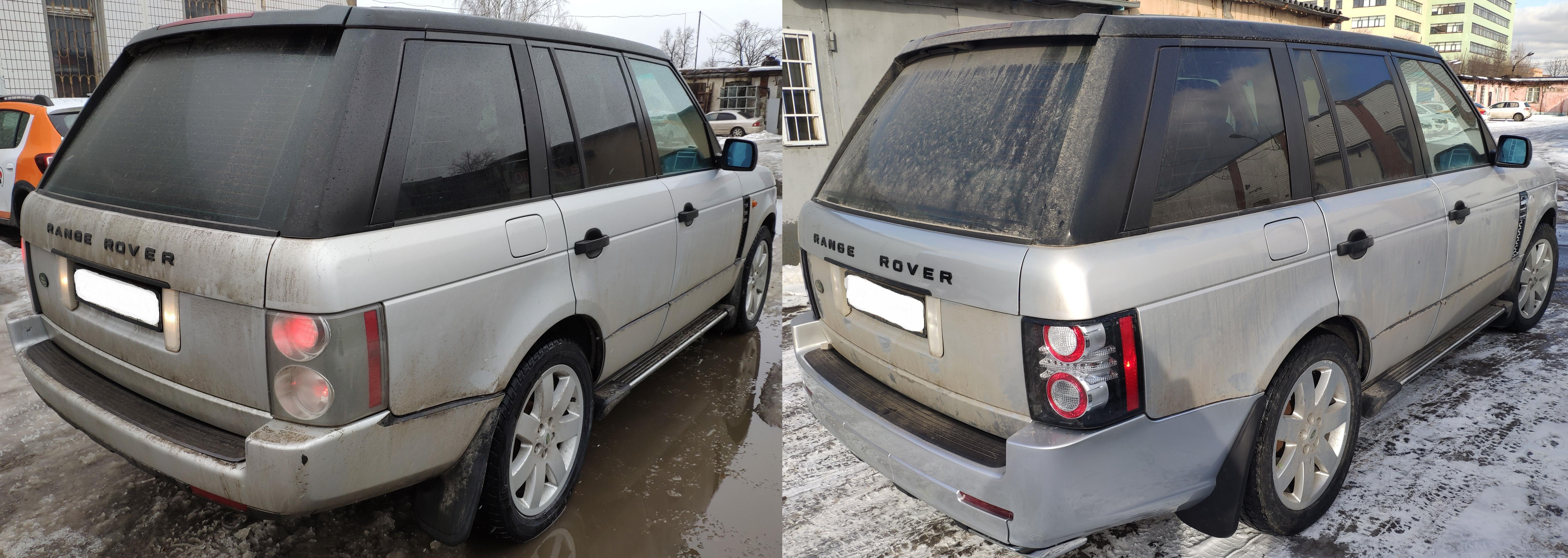 Рестайлинг Range Rover Vogue 2006-2009 зад