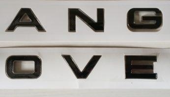 Надпись на капот багажник Range Rover