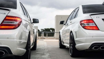 Задние фонари рестайлинг диодные Mercedes W C204
