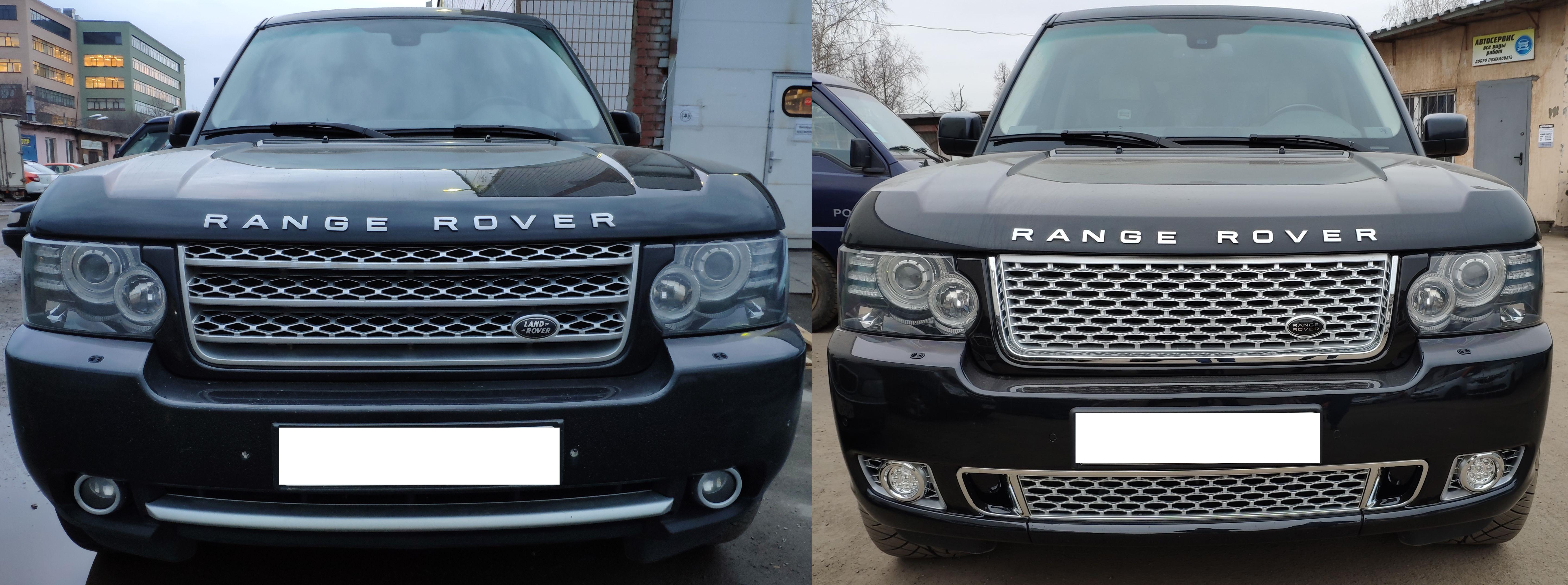 Передний бампер с решеткой Range Rover Vogue 2010-2012 Autobiography