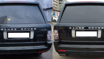 Задний бампер с насадками на выхлоп Range Rover Vogue 2010-2012 Autobiography