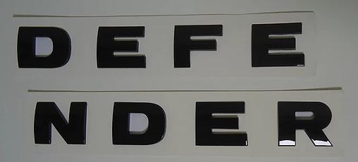 Надпись на капот Land Rover Defender