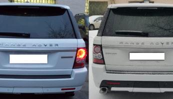 Задний бампер с выхлопом Range Rover Sport 2010 — 2013 Autobiography