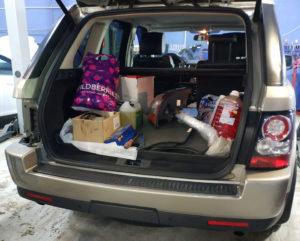 Установка задних диодных тюнинг фонарей Range Rover Sport 2012