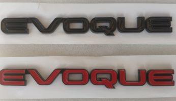 Надпись на крышку багажника Evoque
