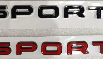 Надпись на крышку багажника Sport L494