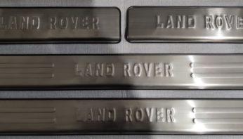 Накладки на пороги салона Land Rover Discovery 3/4