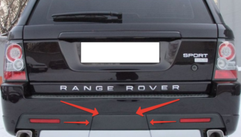 Заглушка фаркопа крышка Range Rover Sport Autobiography 2010-2013