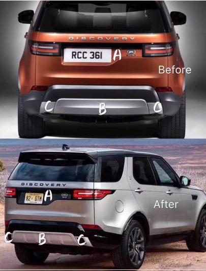 Молдинг задней двери Land Rover Discovery 5